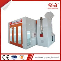 Sandwich style wall panel paint spray booth