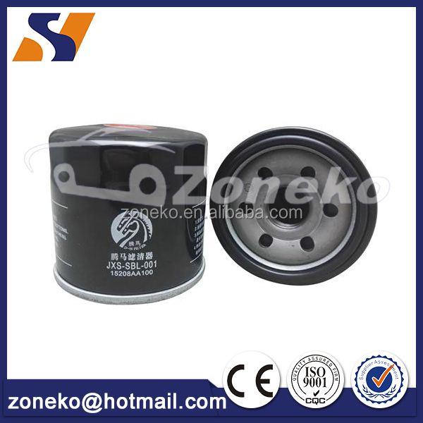 Reliable factory directly supply 15208-AA100 For Subaru Efficiency Performance Oil filter