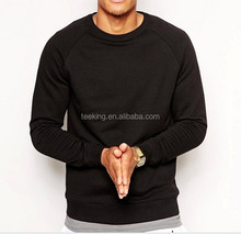 Wholesale Crew Neck Long SLeeves Blank Black Sweatshirts High Quality