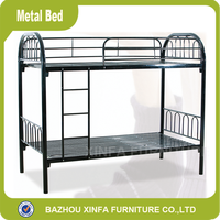 School Dormitory Metal Double Deck Bed/Double Decker Metal Bed Frame