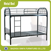 School Dormitory Modern Design Iron Double Decker Metal Bed Frame/ Metal Bunk Bed