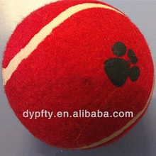 red tennis ball for trainning dogs