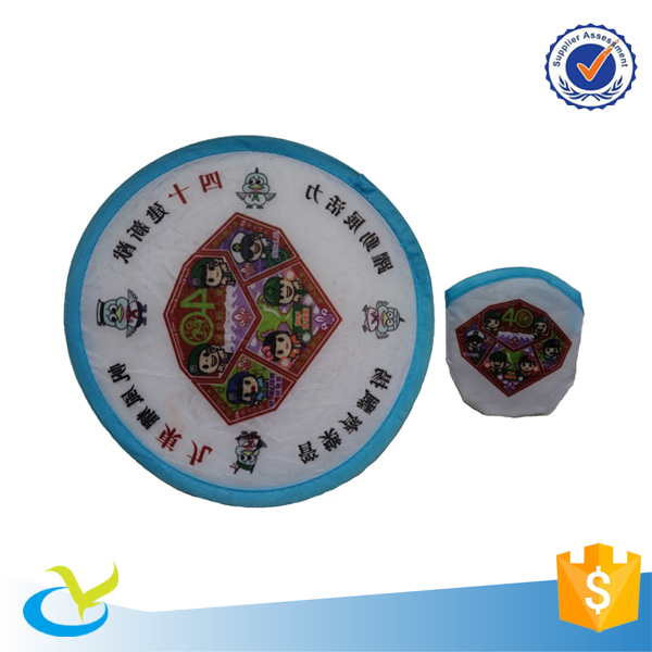 Wholesale custom polyester foldable flying ring dog frisbee