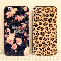 Fashion design tpu back cover leopard print case for iphone 6