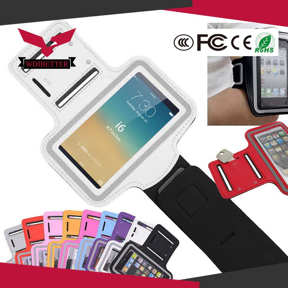 For Iphone 5 5C 5S Gym Armband Mobile Phone Armband With Key Holder