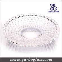 2015 Hot Sale Round Tempered Clear Big Glass Plates , big glass fruit serving tray , wholesale clear big glass plate for fruit