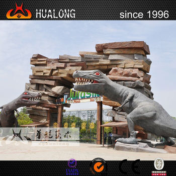 New ideal Mechanical dinosaur theme park gate