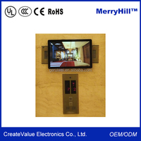 "Indoor Elevators Wide Screen 18.5"" 19"" 21.5"" 22"" Inch LCD Advertising Screens"