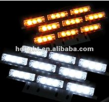 White and Yellow 6x9 LED Snow Plow Car Boat Truck Warning Emergency Strobe Lights Indicator Grill Fog Lamps Warning lights