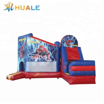 7x5x4m New design inflatable spiderman bouncer inflatable combo for kids