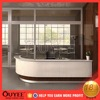 display stand salon equipment reception desk glass top shop counter design