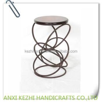 Brown Metal Wood Indoor Plant Pot Holders View Metal