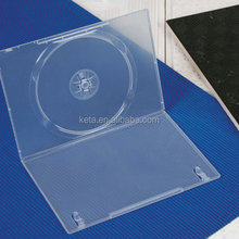 Eco Friendly 7mm Single Disc Normal Clear Cover Long DVD Case , DVD box