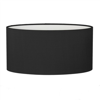 Cheap Factory Wholesale Price Black White Tapered Oval Fabric LampShade