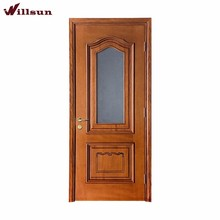 Healthy And Environmentally Friendly Indoor Wood Glass Door