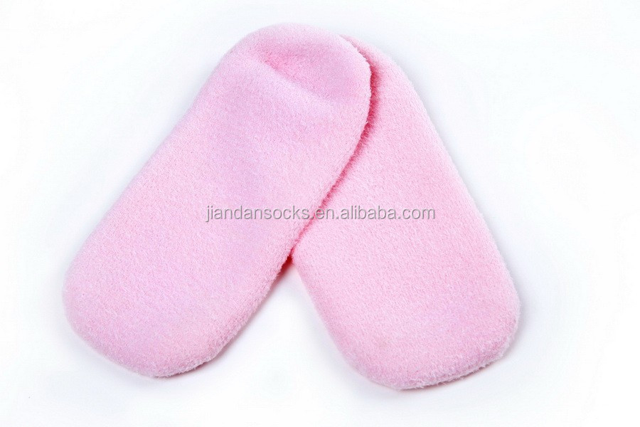 Pink Feather Soften Gel SPA Sock and Glove Hand Feet Skin Whiten Moisturizing Exfoliating Treatment Feet Hand Mask