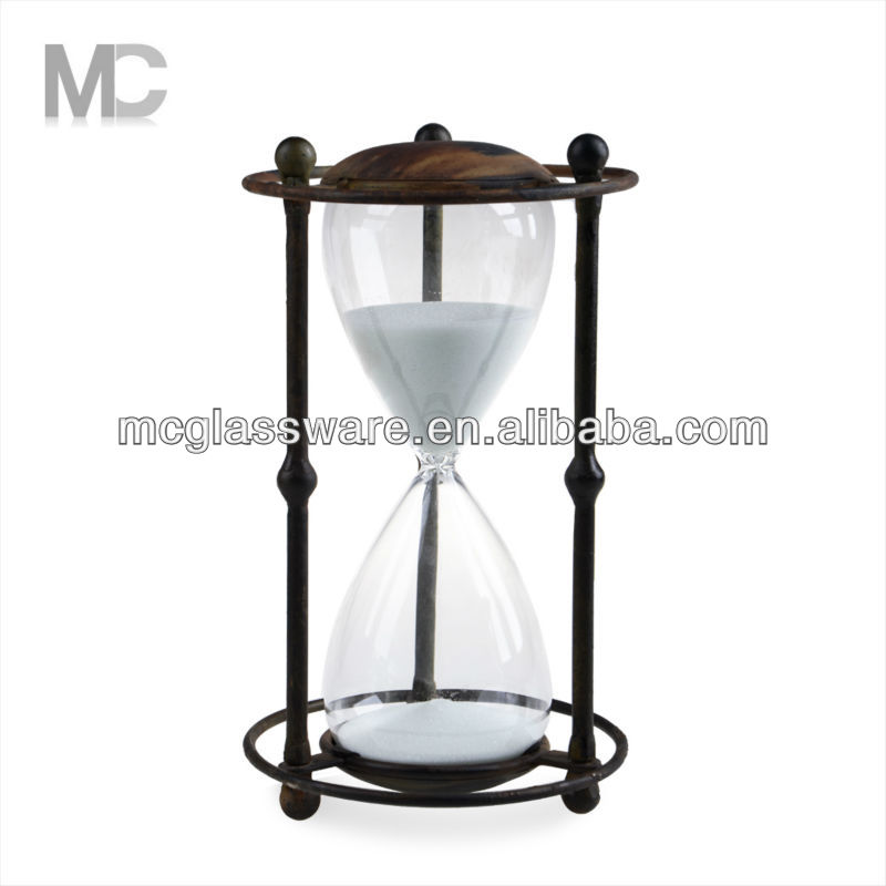 Wholesale blown sand timer with metal frame