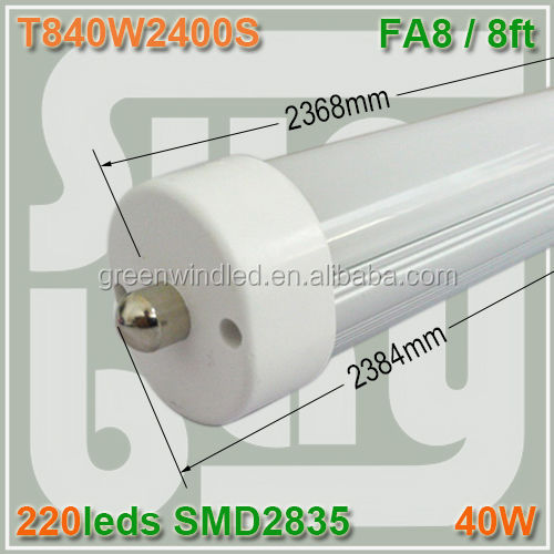 1.2 meters high efficient high quality led tube 88 one side connection T8 4FT 19W