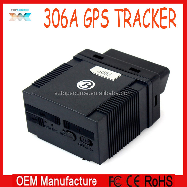 Manufactory directly sale ! GSM/GPRS/GPS 306 306A Car Tracker OBD II for vehicle management and location tracking service