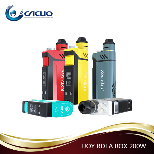 Built-in 12.8ml Vapor Kit IJOY RDTA BOX 200W With IMC Interchangeable Building Deck