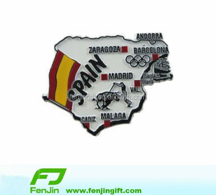 Spain map custom metal fridge magnet