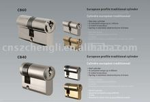 Zinc alloy cylinder for Euro market