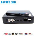 2pcs/lot hot sale AZFREE duo smart satellite TV receiver with 1080p full hd FTA for brazil chile