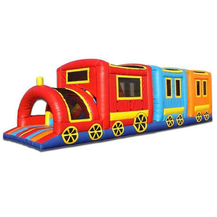 commercial grade Fun Express Train inflatable obstacle course/ obstacle challenge race for adults