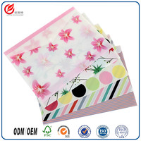 Oster stationery plastic cover with zipper/a4 size l shaped clear folders/white color handbag