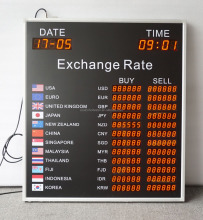 7 segment currency exchange rate board led display /BABBITShenzhen Babbitt Model No. BT6-80L90H-R(M) Red LED Exchange Rate Board