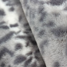 100 polyester Soft and thick artificial fur fabric for Women's clothing