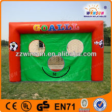 Smiling face inflatable batting cages,soccer fence