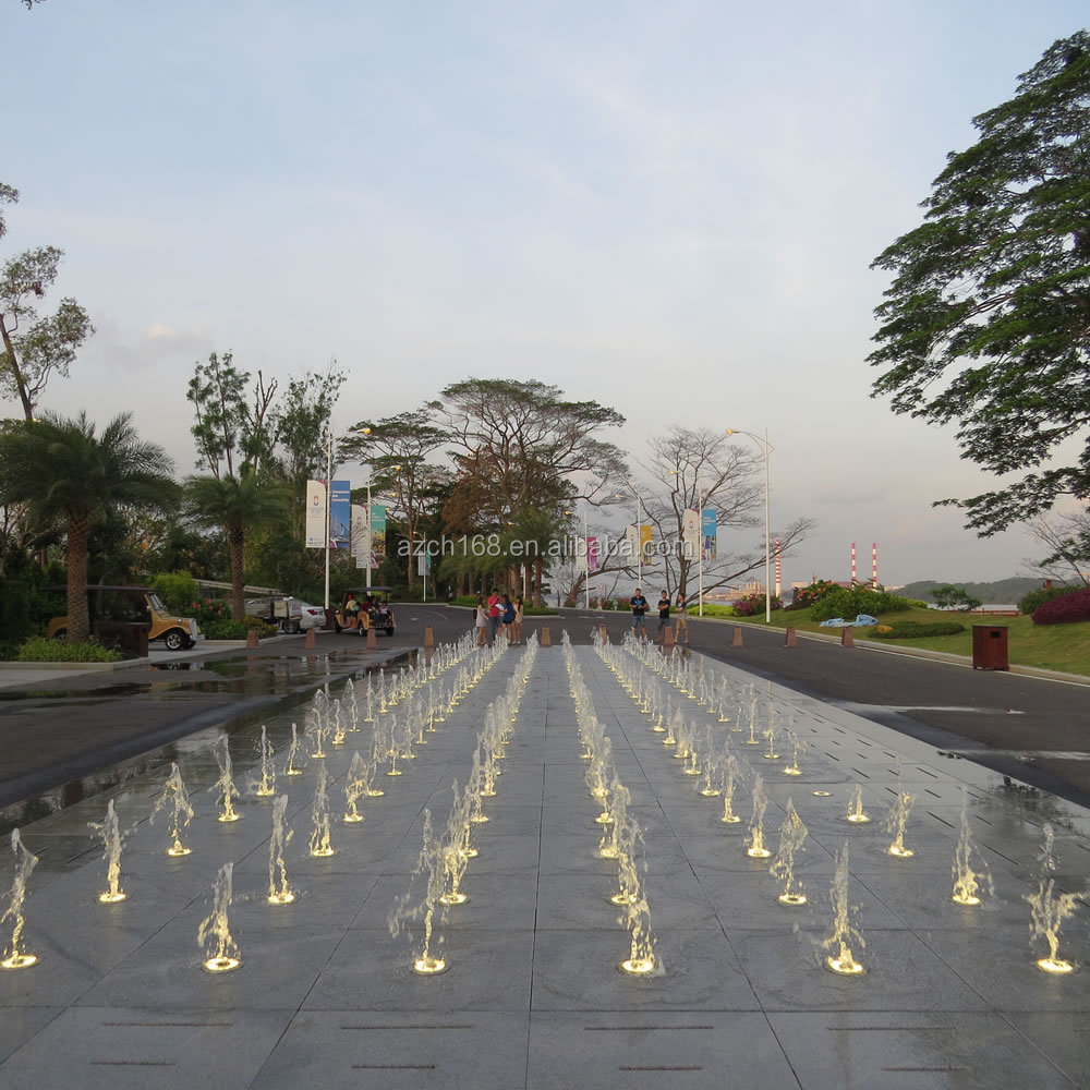 Malaysia Outdoor Garden Music Dancing Dry Fountain, Square Dancing Floor Fountain in Ground Water Fountain For Fun