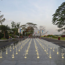 Malaysia Outdoor Music Dancing Dry Fountain With Colorful LED Lights For Entertainment