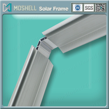Silver anodizing extrusion machining aluminium alloy solar ground mounting frame