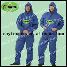 type 5/6 Disposable SMS Nonwoven Protective Coverall With Hood