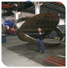 iron double eccentric butterfly valve