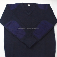 Military Office V Neck Man Knitted