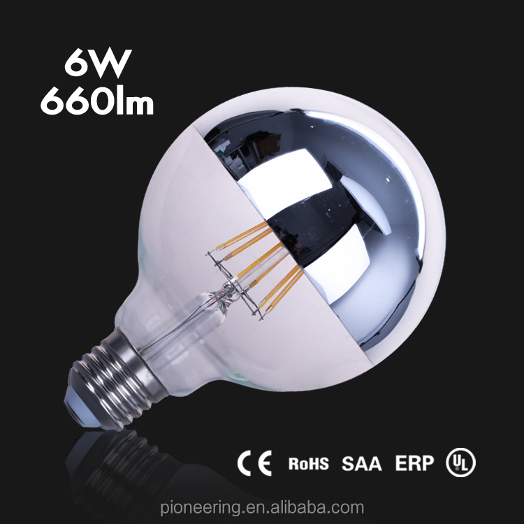 ceiling light <strong>g08</strong> g95 g125 led filament bulb 6w 8w dimmable g125 bulb CE ROHS FCC UL