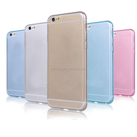 0.45mm TPU phone Smooth Skin Translucent Protective case for iPhone 6 5.5inch