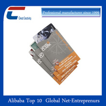 High quality anti hacking card sleeves bank card protection
