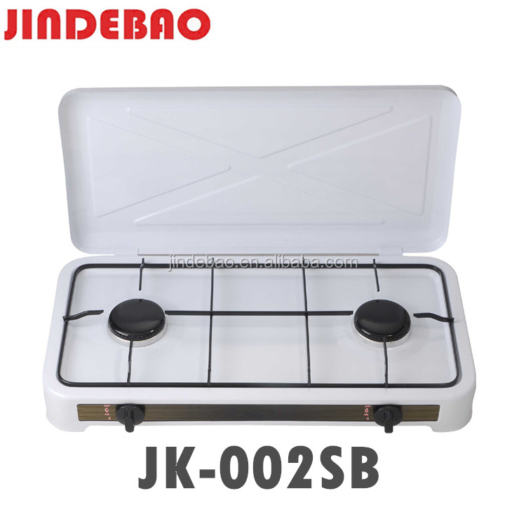 JK-002SB Comfortable design gas stove 2 burners european style gas cooker