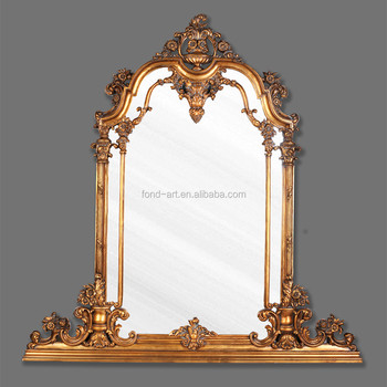 PU252 Antique Gold Large Decorative Wall Frame Mirror, View Large ...