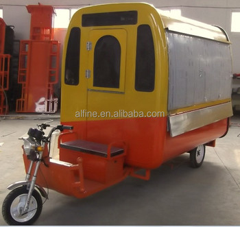 Chinese price mobile motor food cart for sale