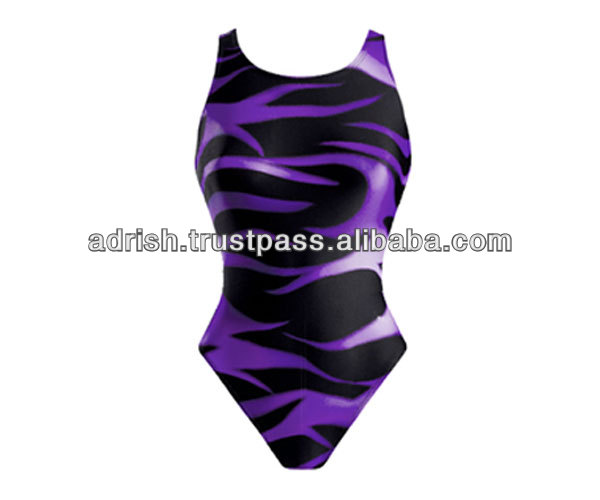 Customized ladies sexy swimming wear with sublimation