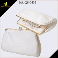 Wholesale White Genuine Leather Elegant Lady Purse