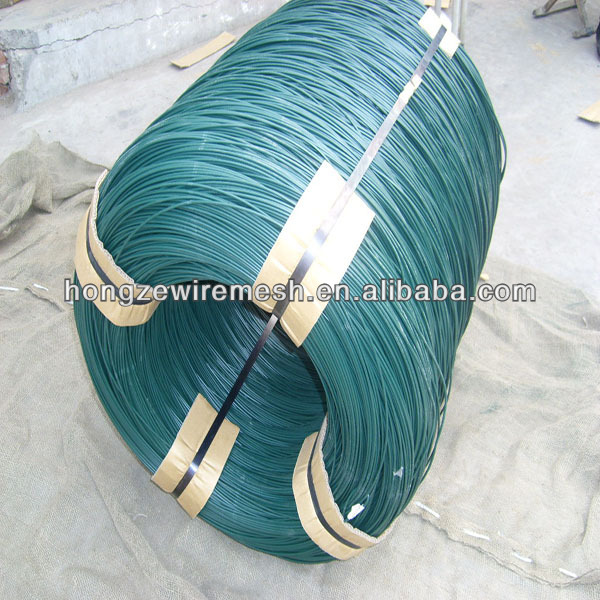 pvc coated galvanized steel wire ropepvc coated metal wire/soft binding wire/4mm pvc coated iron wire