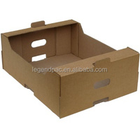 recyclable corrugated fruit and orange packing cartons