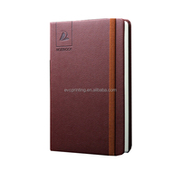 Customized leather hardcover journal with Elastic Band