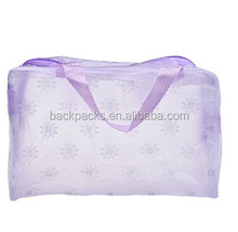 Portable Translucence Makeup Pouch Flower Travel Cosmetic/Storage/Toiletry/Organizer Bag